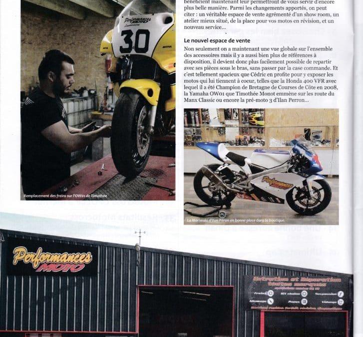 Article moto maniaque déménagement Performances moto
