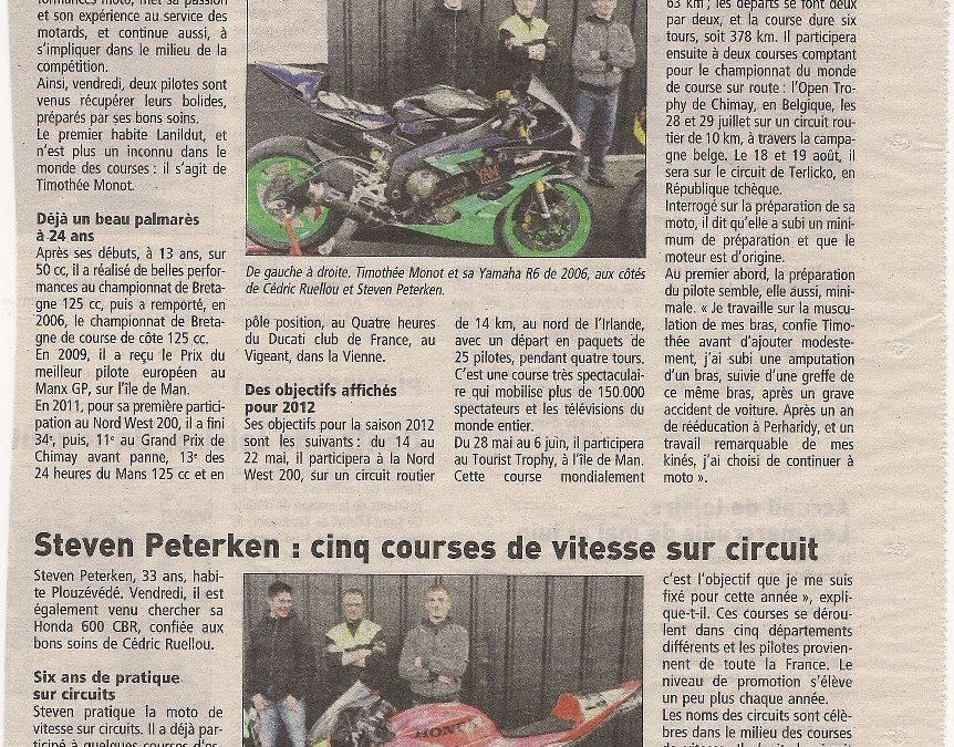 Compétition de moto