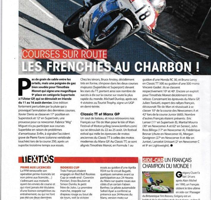 Article Moto Journal RC30 tt clasique de performances moto